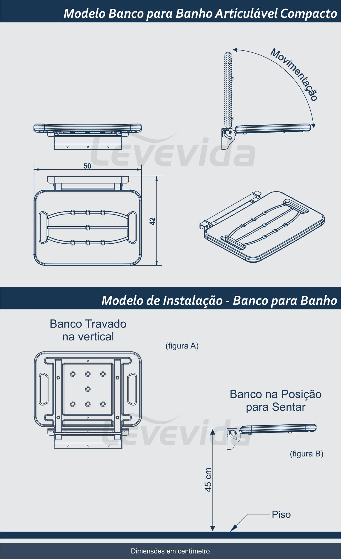 Banco para Banho Instalação
