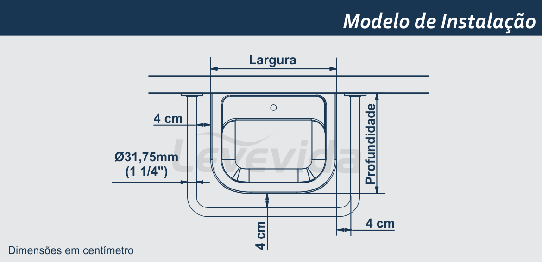 Modelo de instalacao barra de apoio para lavatorio
